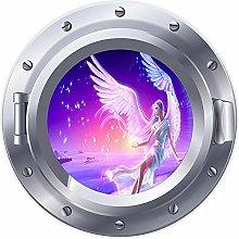 NYJNN 3D ojo de buey ventana Ángel Hada estrellas