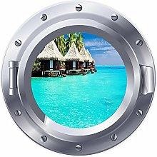 NYJNN 3D ojo de buey ventana cabaña de playa