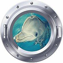 NYJNN 3D ojo de buey ventana delfín flipper mar