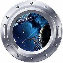 NYJNN 3D ojo de buey ventana espacio tierra cohete