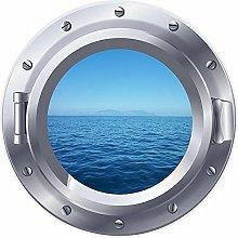 NYJNN 3D ojo de buey ventana mar océano pegatina