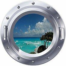 NYJNN 3D ojo de buey ventana playa mar océano