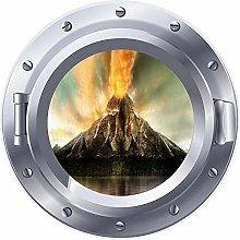 NYJNN 3D ojo de buey ventana volcán isla lava