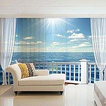 NZHHQW Visillo Cortina Dormitorio 2 Piezas x 140 x