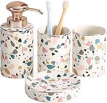 Oaisij Conjunto de cerámica de baño de 4 Piezas,