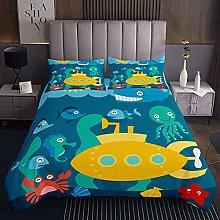 Ocean Animals - Colcha acolchada para niñas y