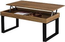 ODIN- Mesa de centro elevable madera maciza