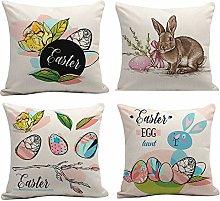 Odot Fundas de Cojin 4 Piezas para Sofa Pascua