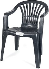 Oemge - Silla plastico apilable Negro