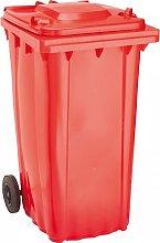 OI - Cubo de baena WAVE 240-l plástico rojo