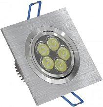 Ojo de Buey LED 6W 3000K cuadrado aluminio -