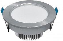 Ojo de Buey LED 7W 3000K circular plata - ENVÍO