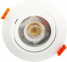 Ojo de buey LED 7W Blanco Completo   3000K