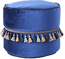 One Couture Taburete, Azul, 45cm x 45cm x 38cm