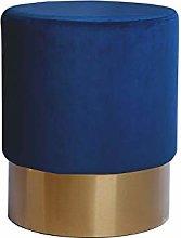 One Couture Taburete, Madera, Azul Oscuro, 35cm x