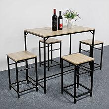 Oobest - Conjunto de Mesa y 4 sillas de Comedor