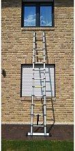 Oobest - Escalera de aluminio multiusos Plegable