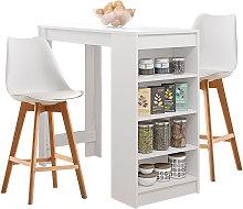 Oobest - Mesa de bar con 2 sillas juego de comedor