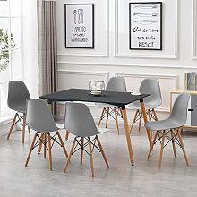Oobest - Mesa de comedor con 6 sillas de comedor