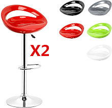 OOBEST® Pack 2 taburetes de bar, silla de Bar