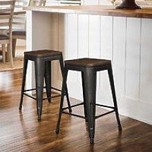 Oobest - Pack 2 Taburetes de bar silla de comedor