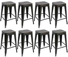Oobest - Pack 8 Taburetes de bar silla de comedor
