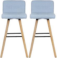 Oobest - Taburetes de bar silla de bar, tela, Azul