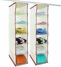 Organizador de armario set de 2 estanterias
