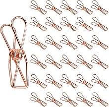 Oro rosa pequeña pinzas clips, Larga Hueca Clip,