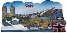 Oslo Noruega 3D Imán de refrigerador Recuerdos
