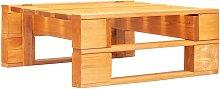 Otomana de jardin de pales madera marron miel