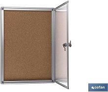 Otros - Vitrina corcho cierre350x500mm