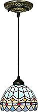 OURLOVEII Lámpara Colgante Vidrio Retro Lámparas