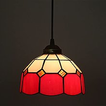 OURLOVEII Lámpara Colgante Vidrio Tiffany,