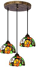 OURLOVEII Lámpara de Araña Estilo Tiffany Retro