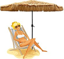 Outech Sombrilla de Playa con Techo de Paja de 2,7