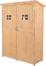 Outsunny Cobertizo de Madera Caseta Exterior