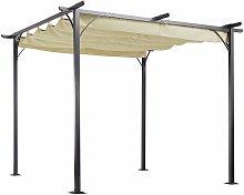 Outsunny Pérgola de Metal 3x3m Gazebo Cenador
