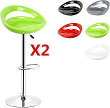 ® Pack 2 taburetes de bar, silla de Bar ajustable