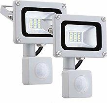 Pack 2x 10W Foco LED con Sensor Movimiento, IP65