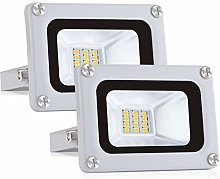 Pack 2x 10W Focos LED Exterior IP65 Impermeable