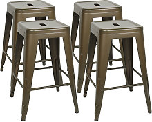 Pack 4 Sillas de Comedor apilables de silla de
