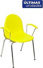 Pack 4 sillas Ves plástico amarillo