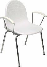 Pack 4 sillas Ves plástico blanco
