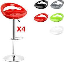 ® Pack 4 taburetes de bar, silla de Bar, cocina