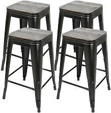 Pack 4 Taburetes de bar silla de comedor diseño