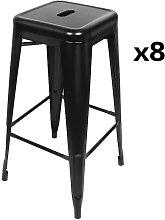 Pack 8 Sillas de Comedor apilables de silla de