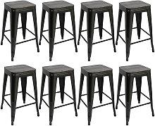 Pack 8 Taburetes de bar silla de comedor diseño