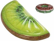 Pack Colchón de playa hinchable kiwi rebanada