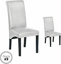 Pack de 2 sillas de comedor, tapizada en polipiel